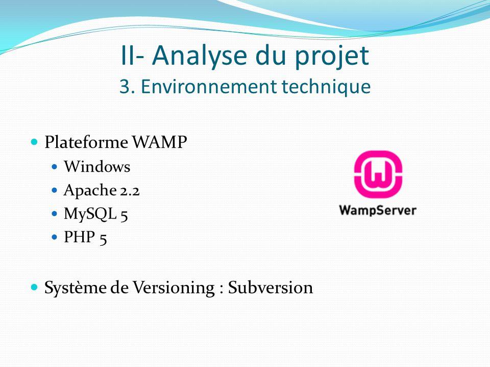 II- Analyse du projet 3.
