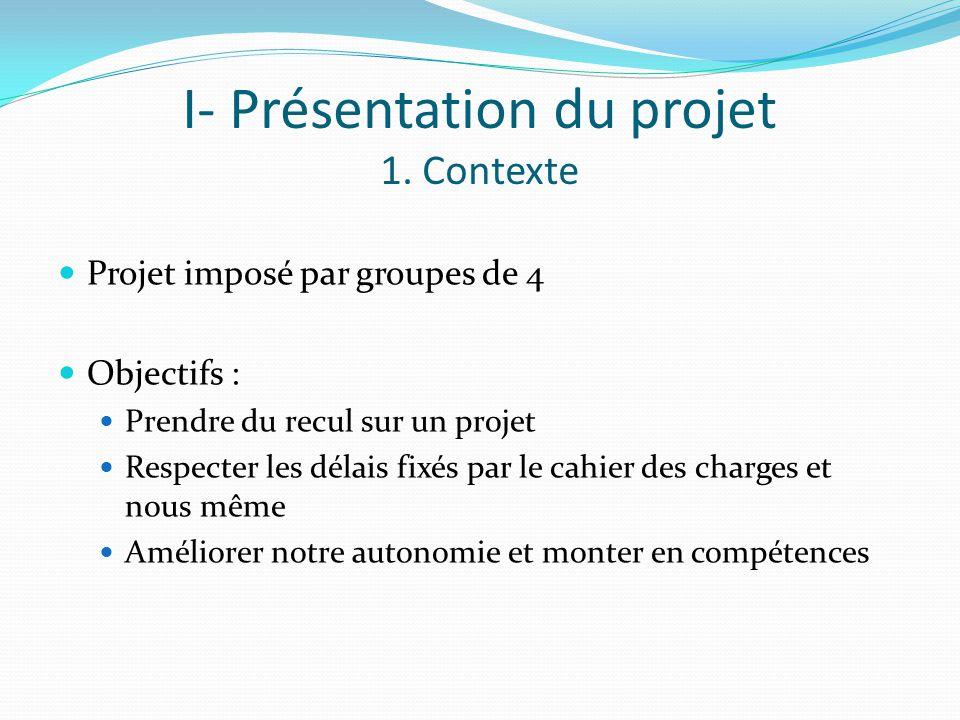 I- Présentation du projet 1.