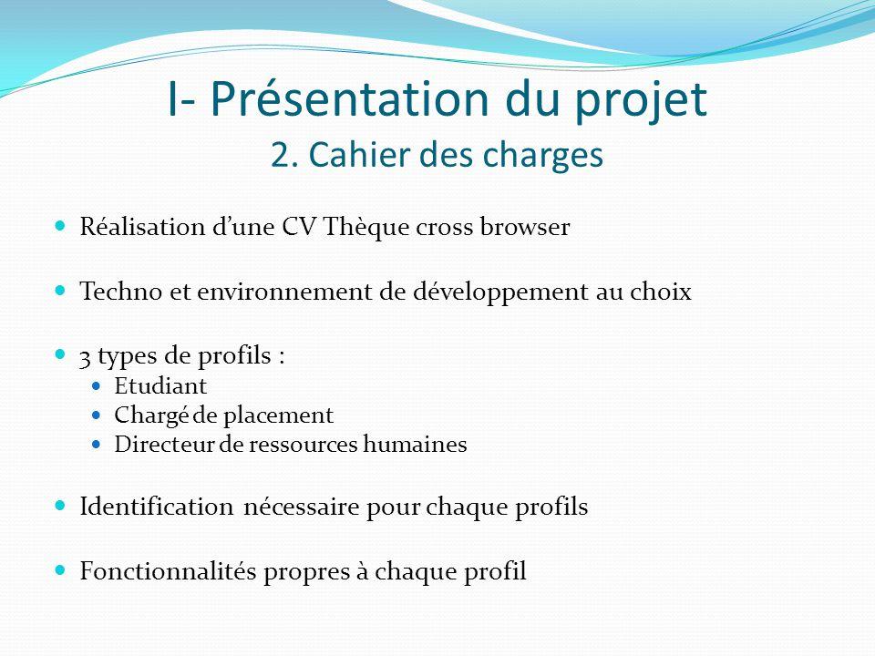 I- Présentation du projet 2.