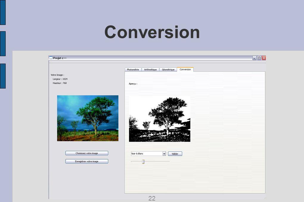 Conversion 22