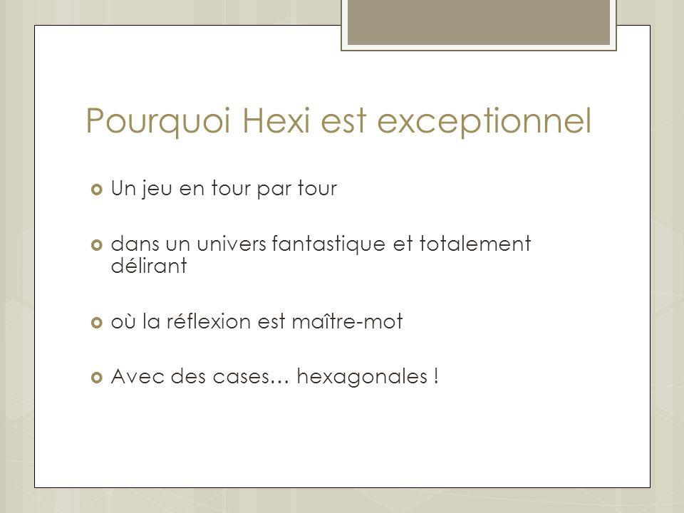 Pourquoi Hexi est exceptionnel Un jeu en tour par tour dans un univers fantastique et totalement délirant où la réflexion est maître-mot Avec des cases… hexagonales !