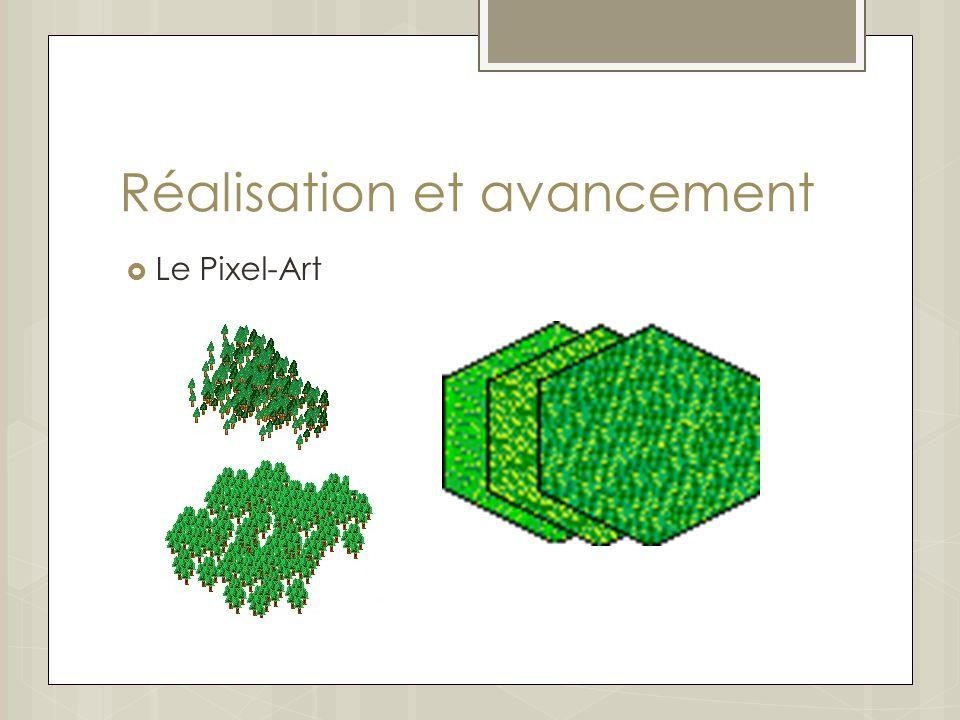 Réalisation et avancement Le Pixel-Art