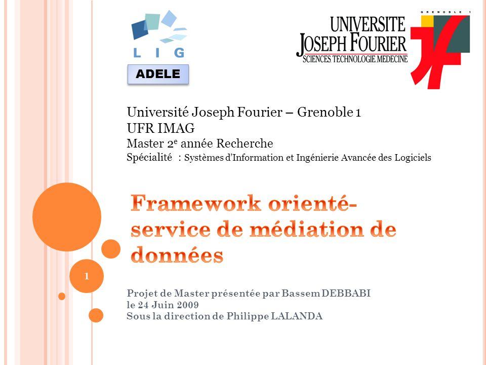 Projet de Master présentée par Bassem DEBBABI le 24 Juin 2009 Sous la direction de Philippe LALANDA 1 Université Joseph Fourier – Grenoble 1 UFR IMAG