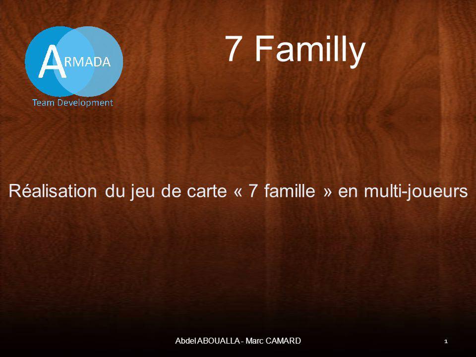 7 Familly Réalisation du jeu de carte « 7 famille » en multi-joueurs Abdel ABOUALLA - Marc CAMARD 1