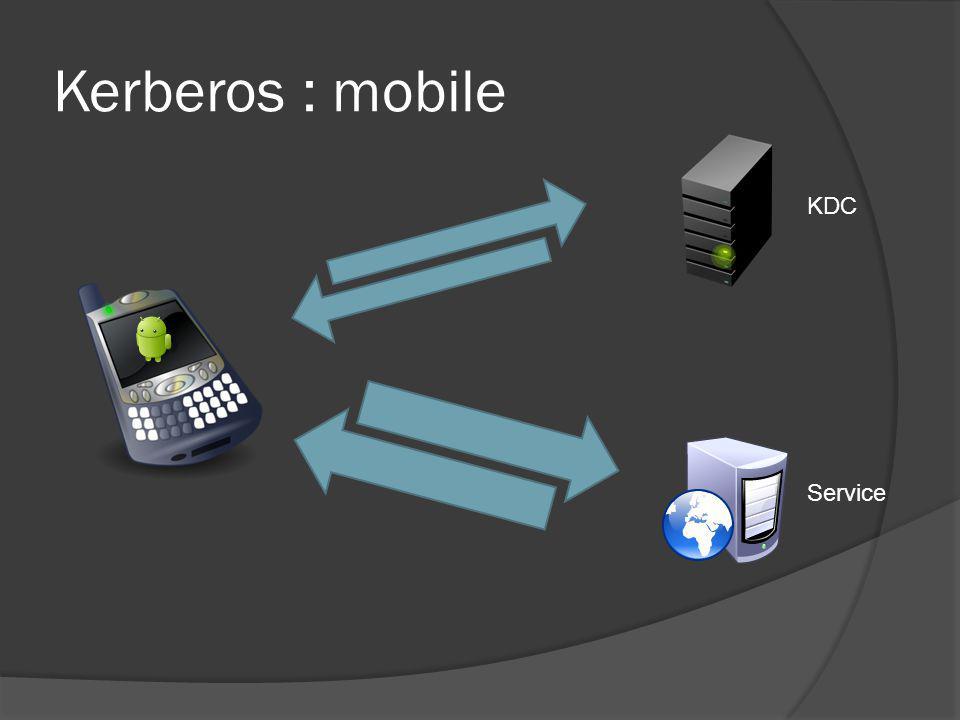 Kerberos : mobile KDC Service