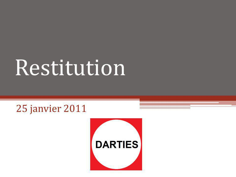 Restitution 25 janvier 2011