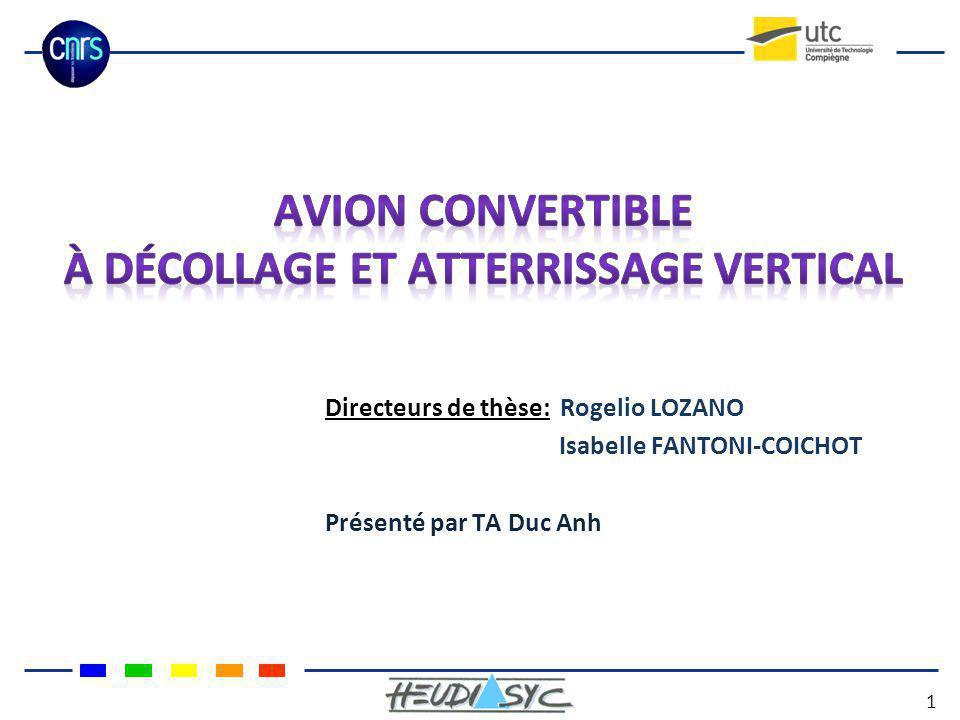 Directeurs de thèse: Rogelio LOZANO Isabelle FANTONI-COICHOT Présenté par TA Duc Anh 1
