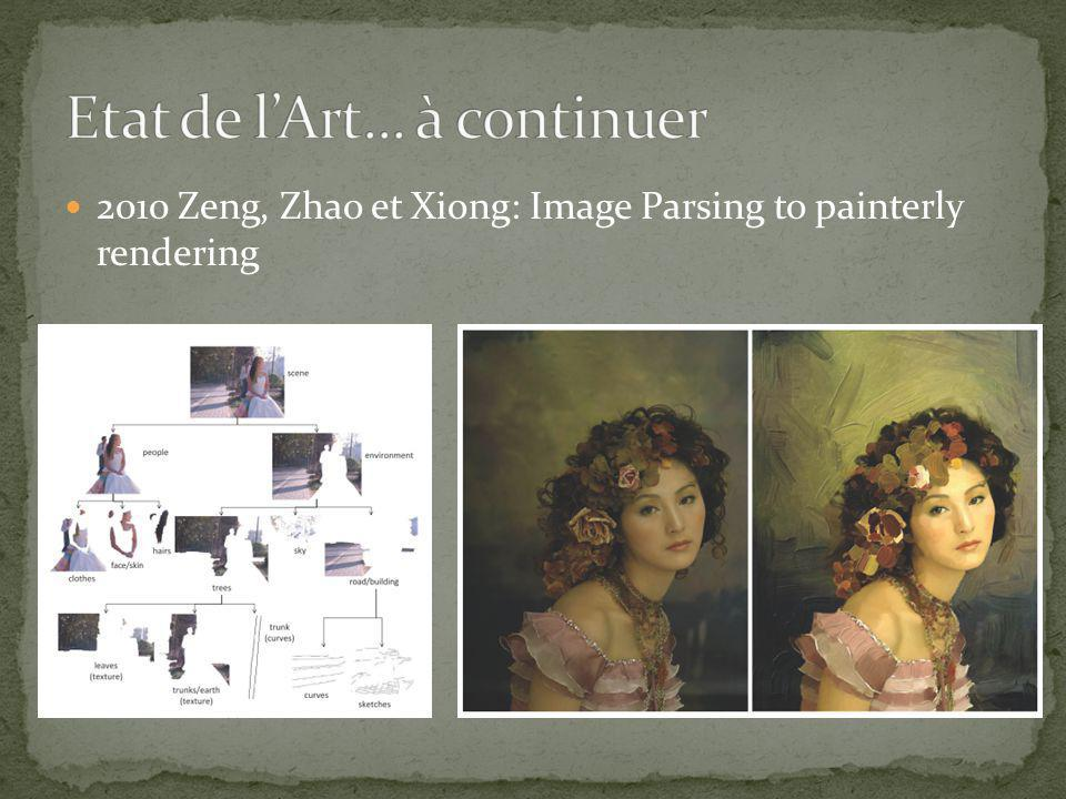 2010 Zeng, Zhao et Xiong: Image Parsing to painterly rendering