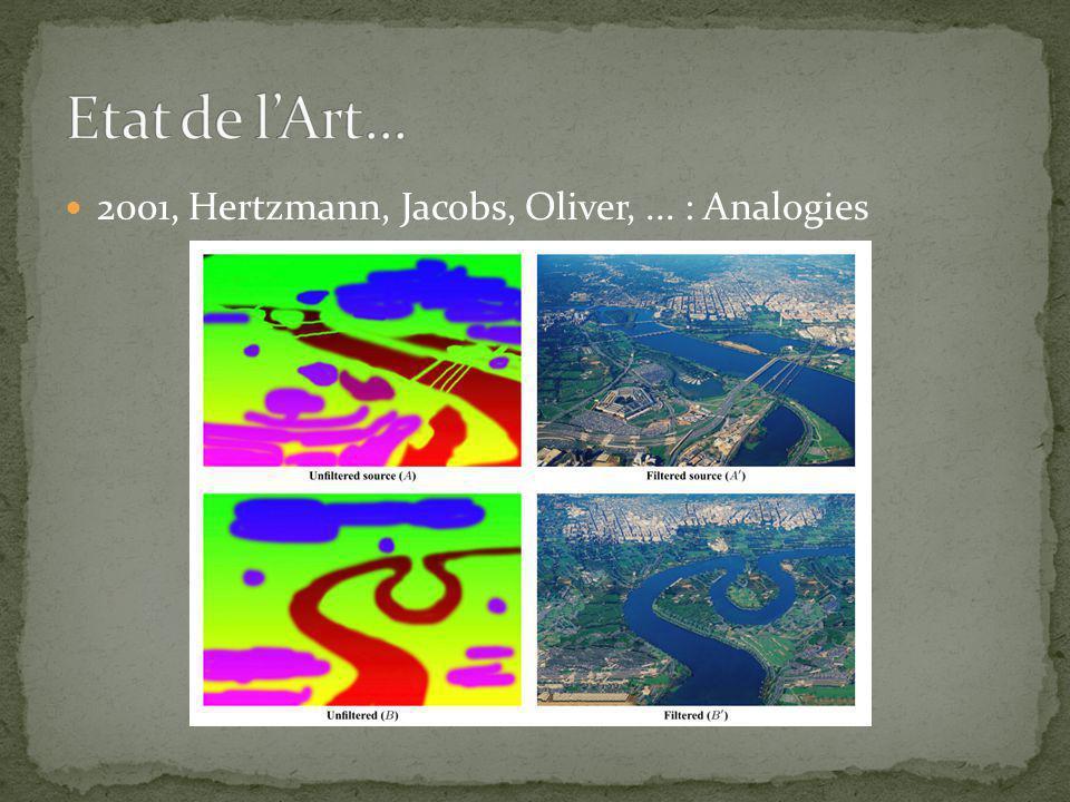 2001, Hertzmann, Jacobs, Oliver,... : Analogies