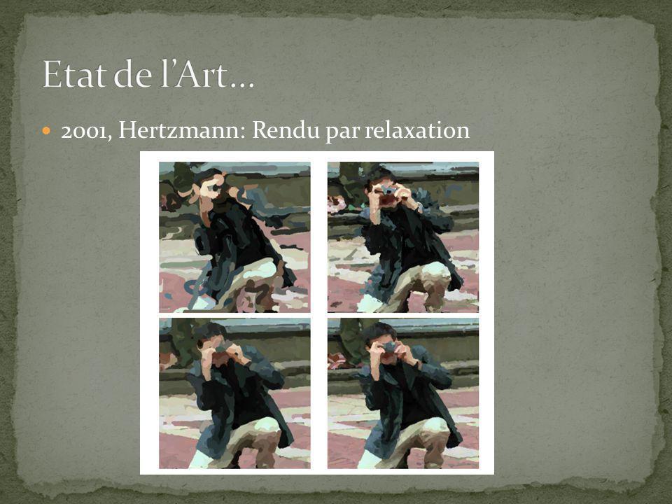 2001, Hertzmann: Rendu par relaxation