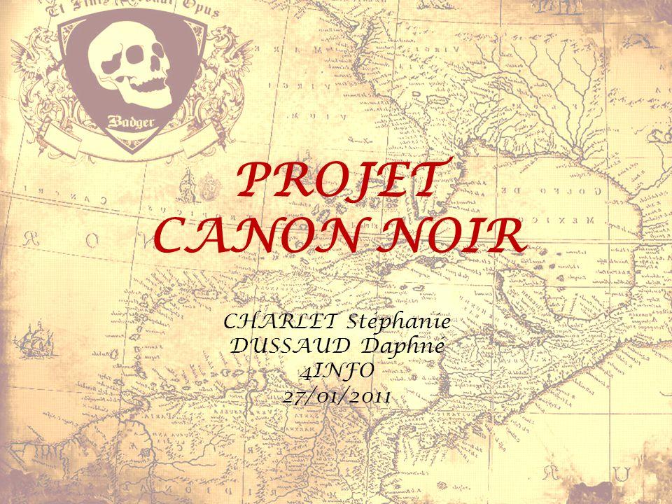 PROJET CANON NOIR CHARLET Stéphanie DUSSAUD Daphné 4INFO 27/01/2011