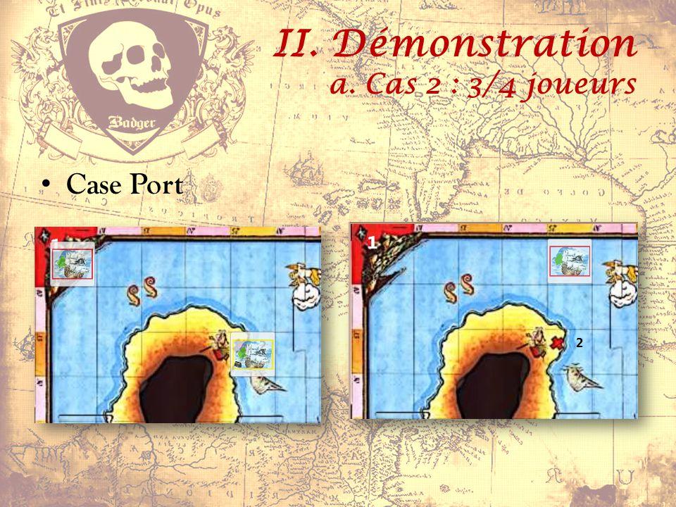 II. Démonstration a. Cas 2 : 3/4 joueurs Case Port