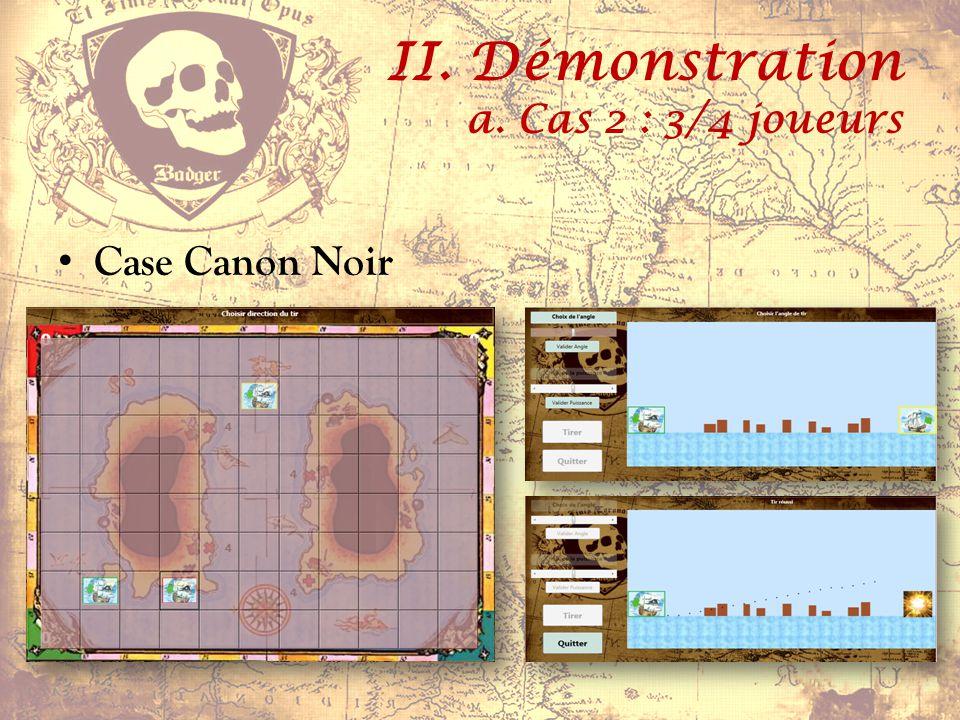 II. Démonstration a. Cas 2 : 3/4 joueurs Case Bord