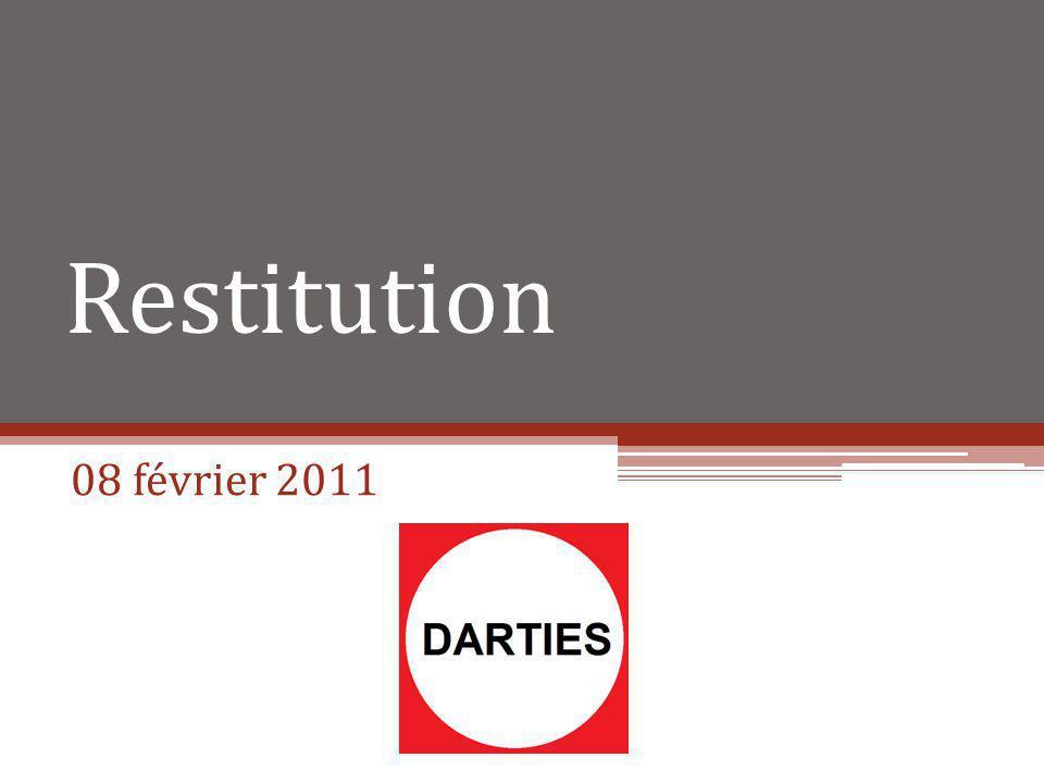 Restitution 08 février 2011