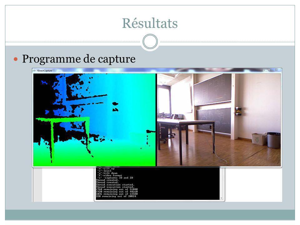 Résultats Capture dun objet (mettre video, flash, de la tete)