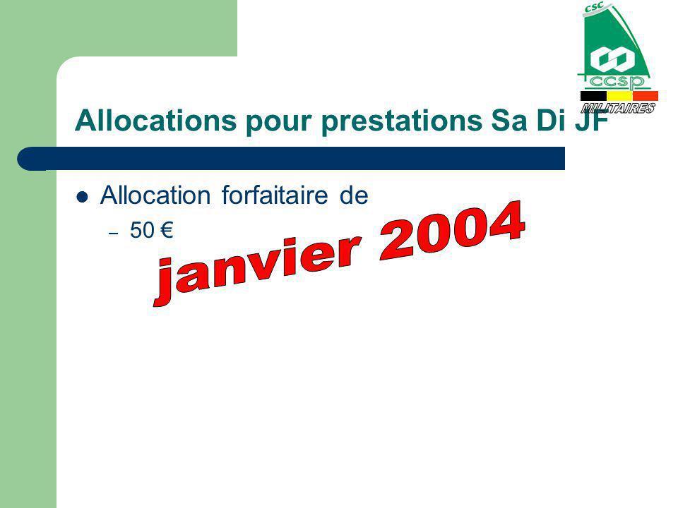 Allocations pour prestations Sa Di JF Allocation forfaitaire de – 50