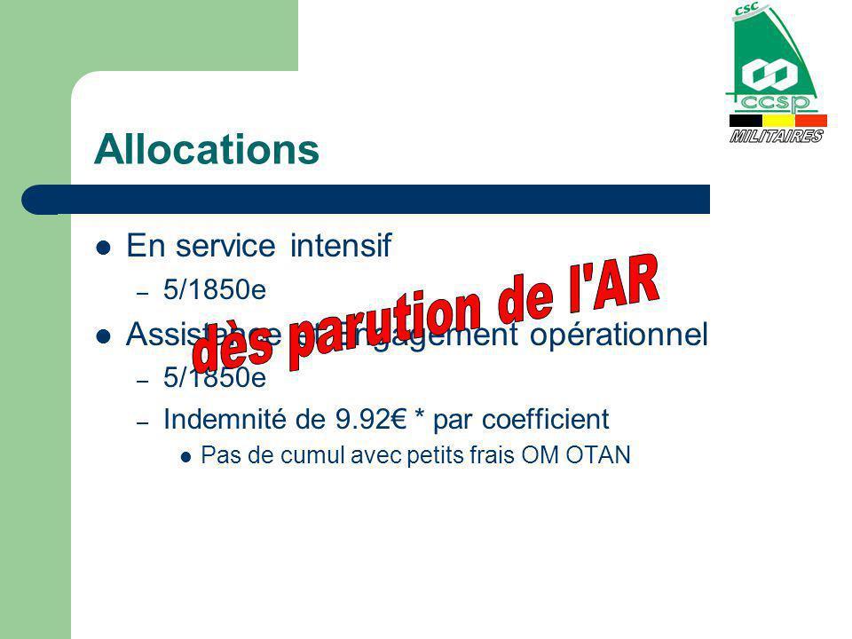 Allocation dEtat-Major Pour Officiers Supérieurs Montant = 2000