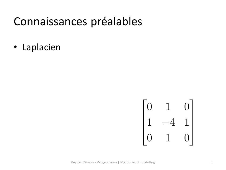 Connaissances préalables Laplacien 5Reynard Simon - Vergeot Yoan   Méthodes d'Inpainting