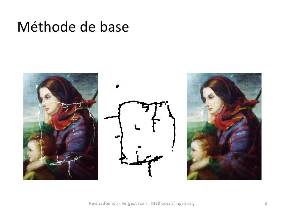 Méthode de base 9Reynard Simon - Vergeot Yoan   Méthodes d'Inpainting