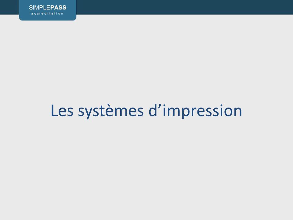 Les systèmes dimpression
