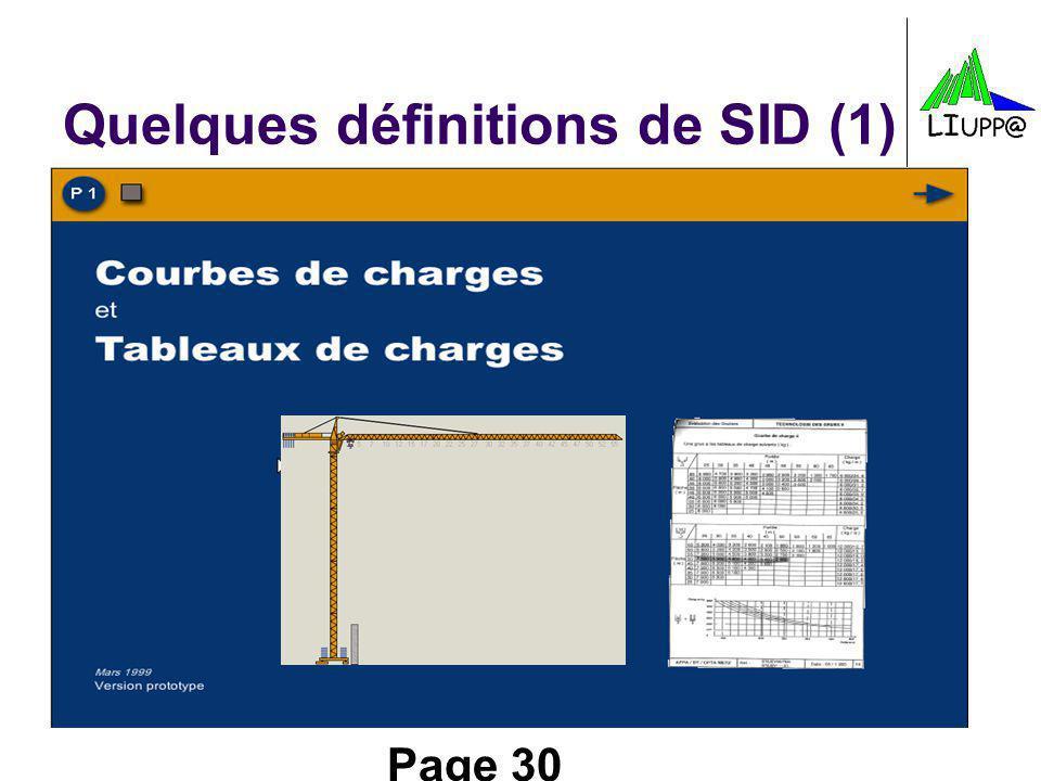 Page 30 Quelques définitions de SID (1)