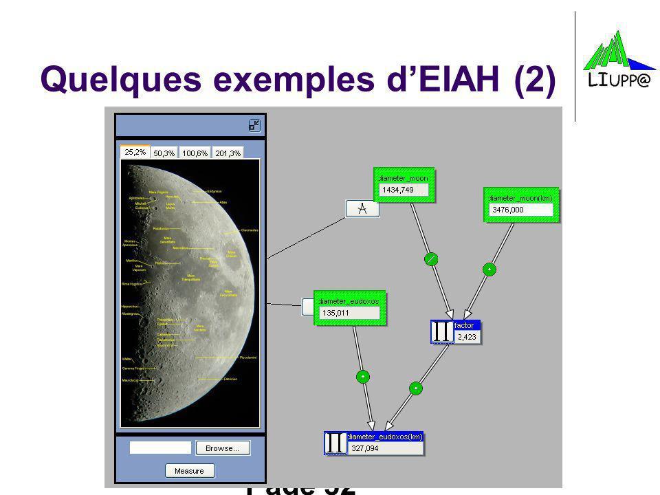 Page 32 Quelques exemples dEIAH (2)