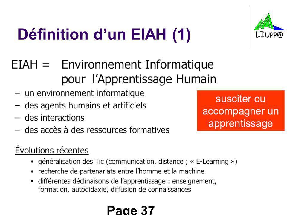 Page 37 Définition dun EIAH (1)