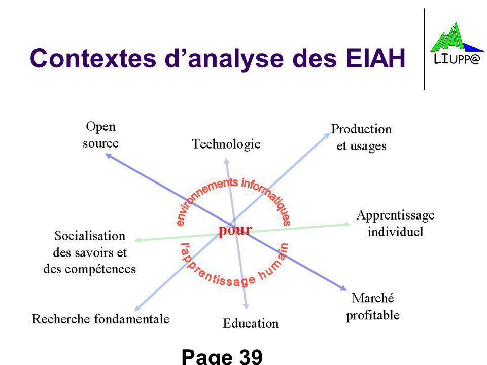 Page 39 Contextes danalyse des EIAH