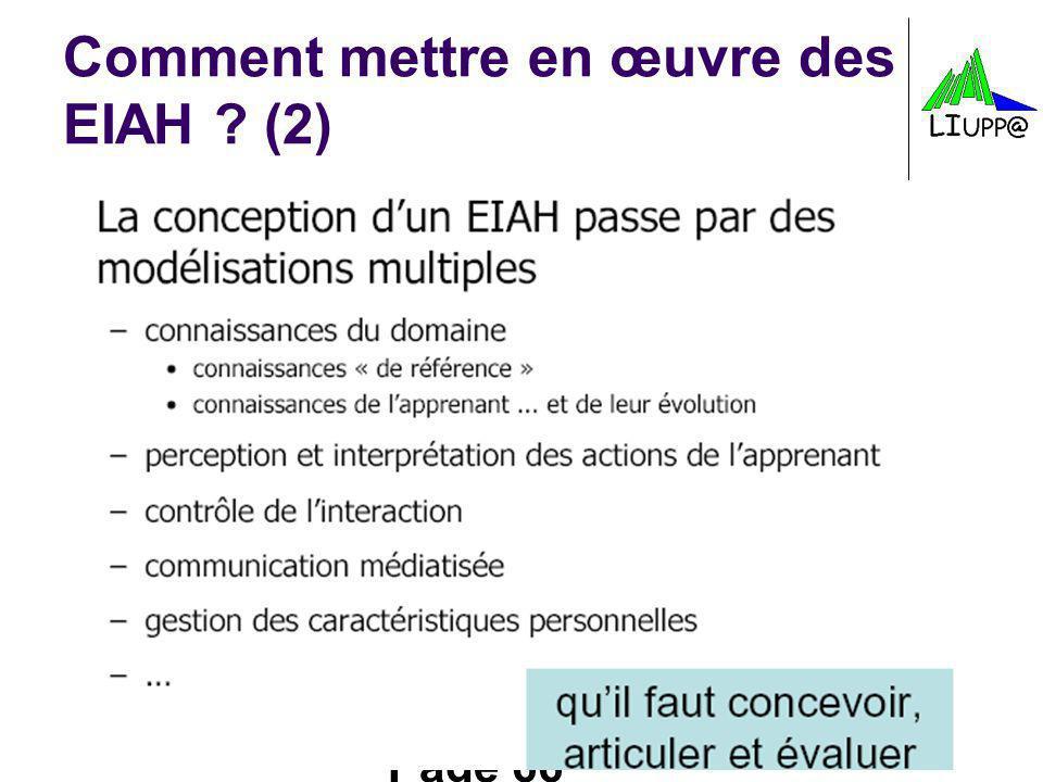 Page 66 Comment mettre en œuvre des EIAH ? (2)