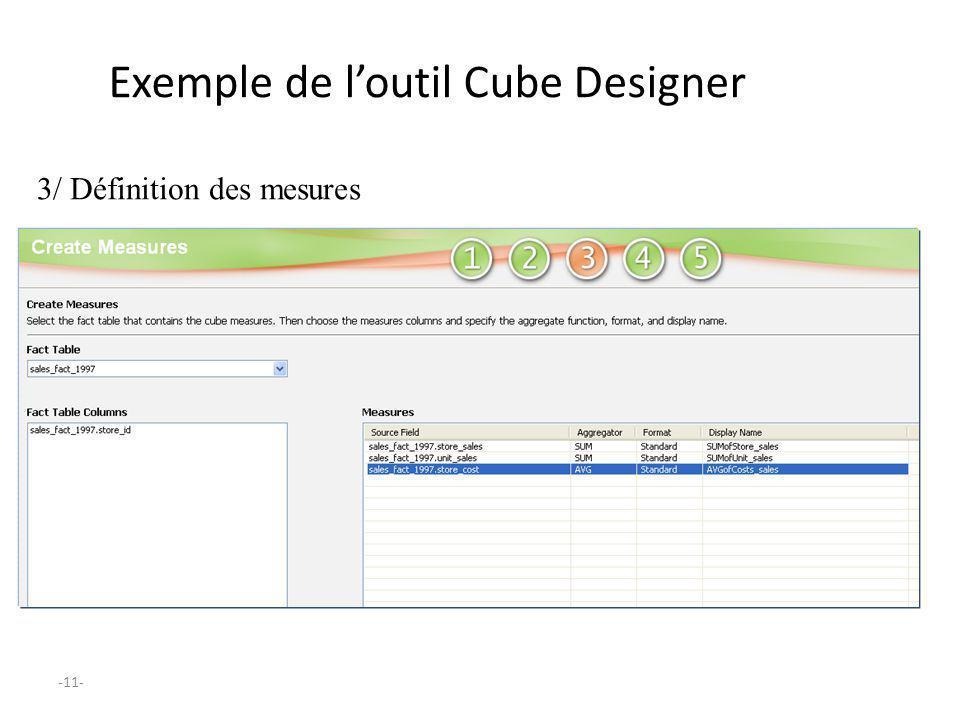 -11- Exemple de loutil Cube Designer 3/ Définition des mesures
