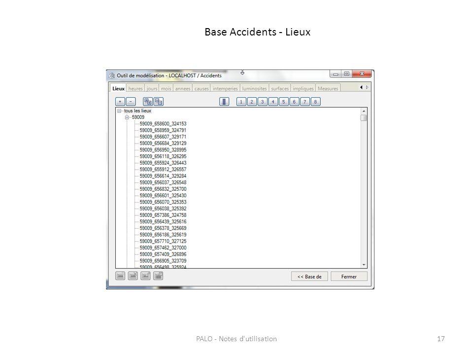 Base Accidents - Lieux PALO - Notes d'utilisation17