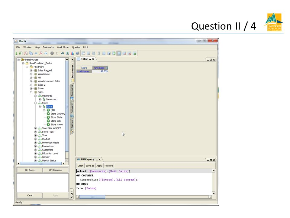 Question II /5 Longlet query reflète les modifications qui sont faites dans longlet table.