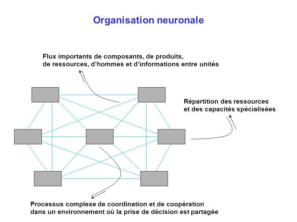 Processus complexe de coordination et de coopération dans un environnement où la prise de décision est partagée Répartition des ressources et des capa