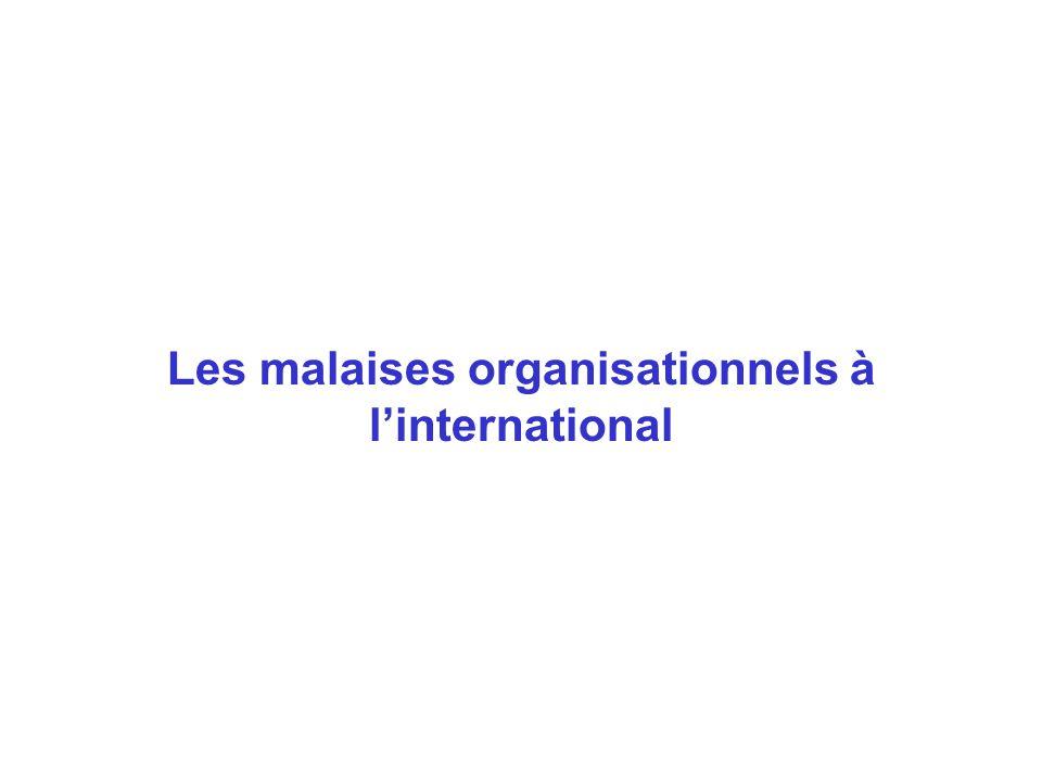 Les malaises organisationnels à linternational