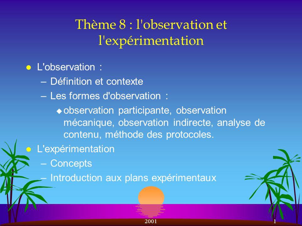 20012 L observation l Définition.