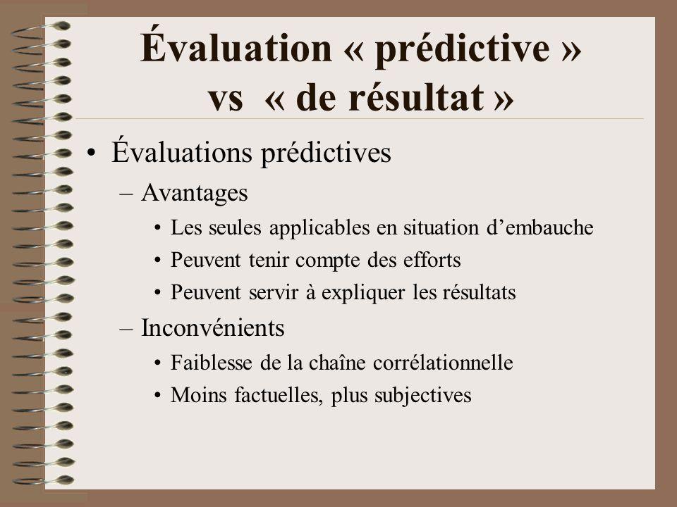 Choix des critères et indicateurs Indicateur: ce quon va mesurer Critère: ce à quoi on va le comparer Mesurer: attribuer une valeur numérique à un indicateur Évaluer: comparer le résultat de la mesure à un critère de référence