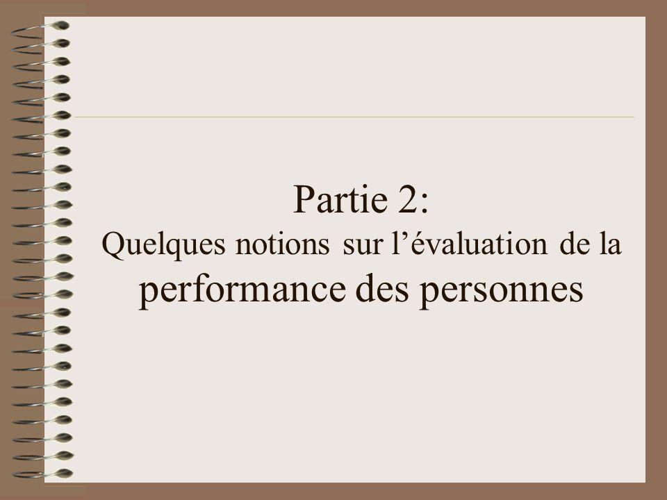Performances organisationnelle et individuelles Lévaluation des performances individuelles sert à: –Cerner les contributions spécifiques à la performance globale –Évaluer lapport spécifique à la valeur ajoutée –Gérer le système de bonification –Clarifier les attentes de lorganisation –Etc.