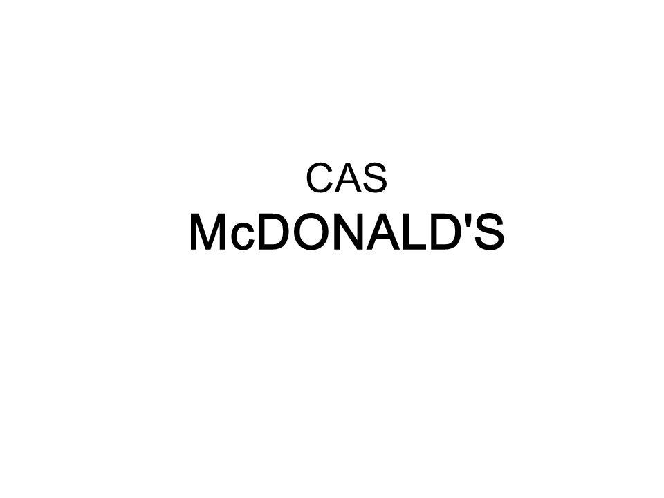 CAS McDONALD'S