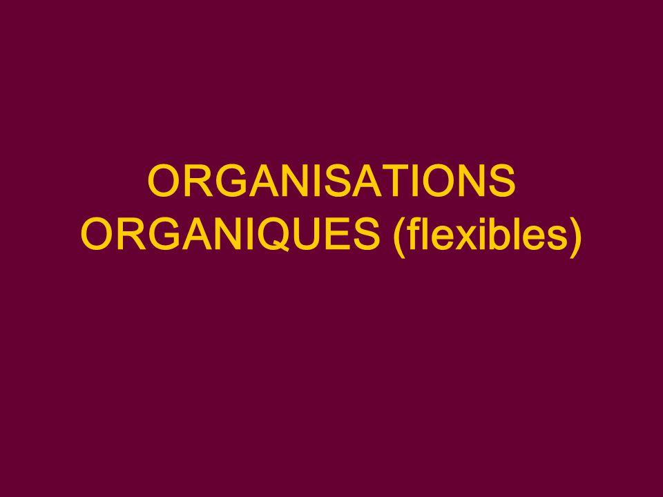 ORGANISATIONS ORGANIQUES (flexibles)