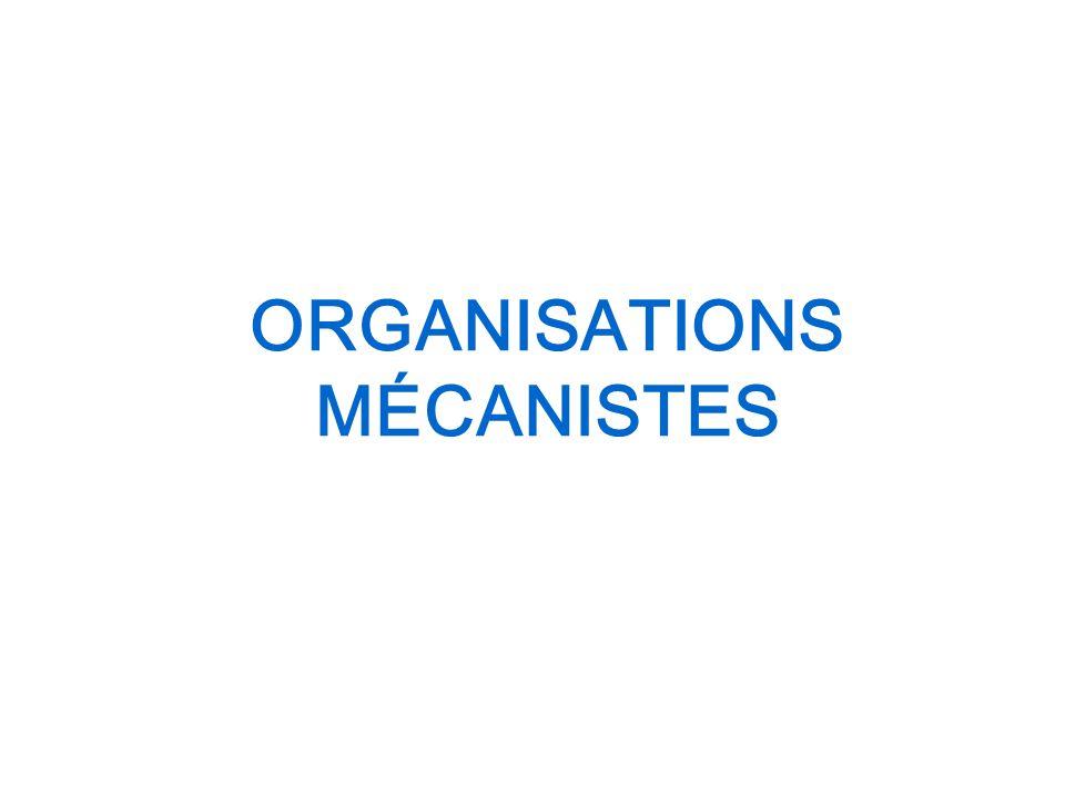 ORGANISATIONS MÉCANISTES