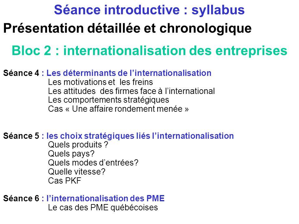 Présentation détaillée et chronologique Bloc 1: comprendre la mondialisation Séance 1 et 2 : introduction à la mondialisation Historique Caractéristiq
