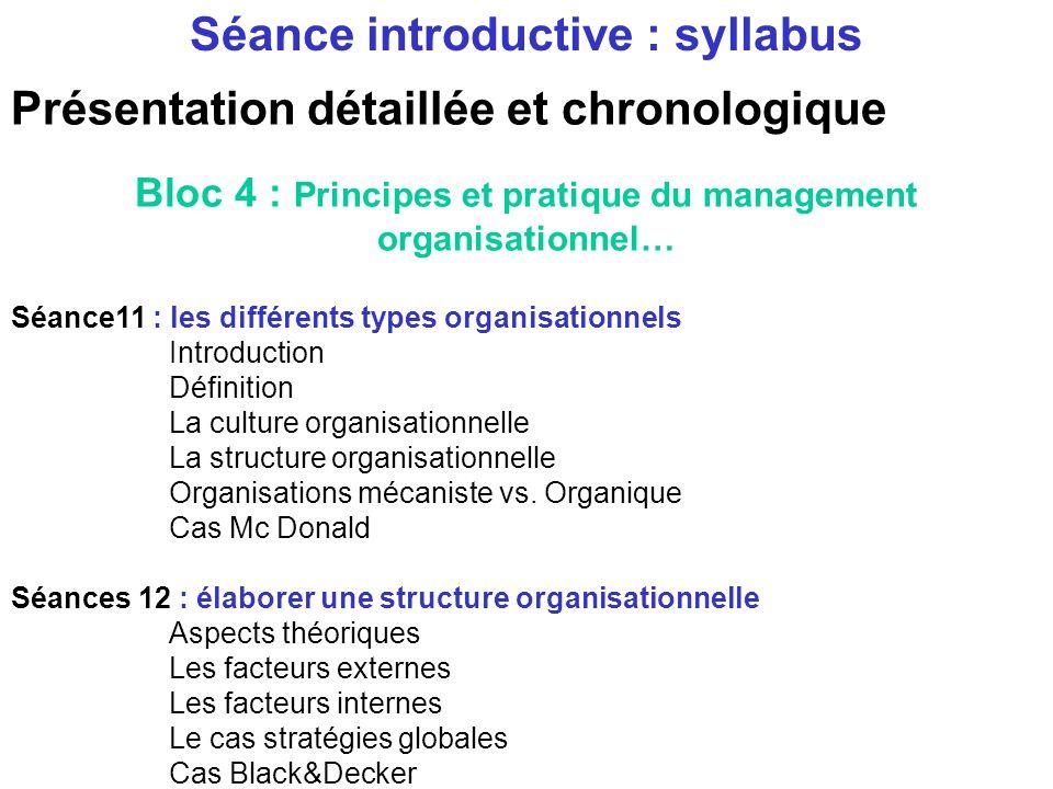 Présentation détaillée et chronologique Bloc 3 : Gestion de linternationalisation Séance 10 : Gestion de la mobilité La problématique de la sélection