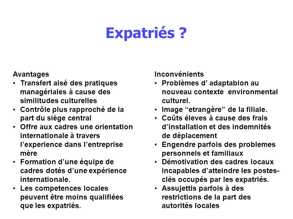 Expatriés .