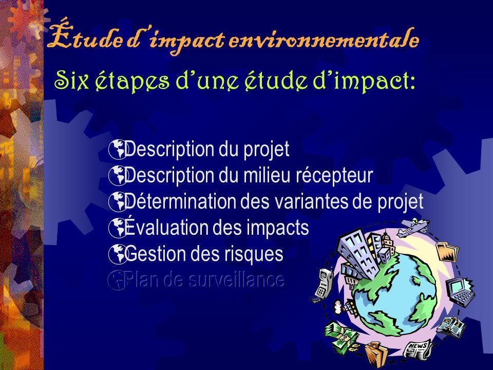 Étude dimpact environnementale Six étapes dune étude dimpact: