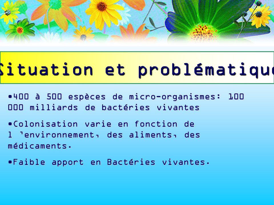 400 à 500 espèces de micro-organismes: 100 000 milliards de bactéries vivantes400 à 500 espèces de micro-organismes: 100 000 milliards de bactéries vi