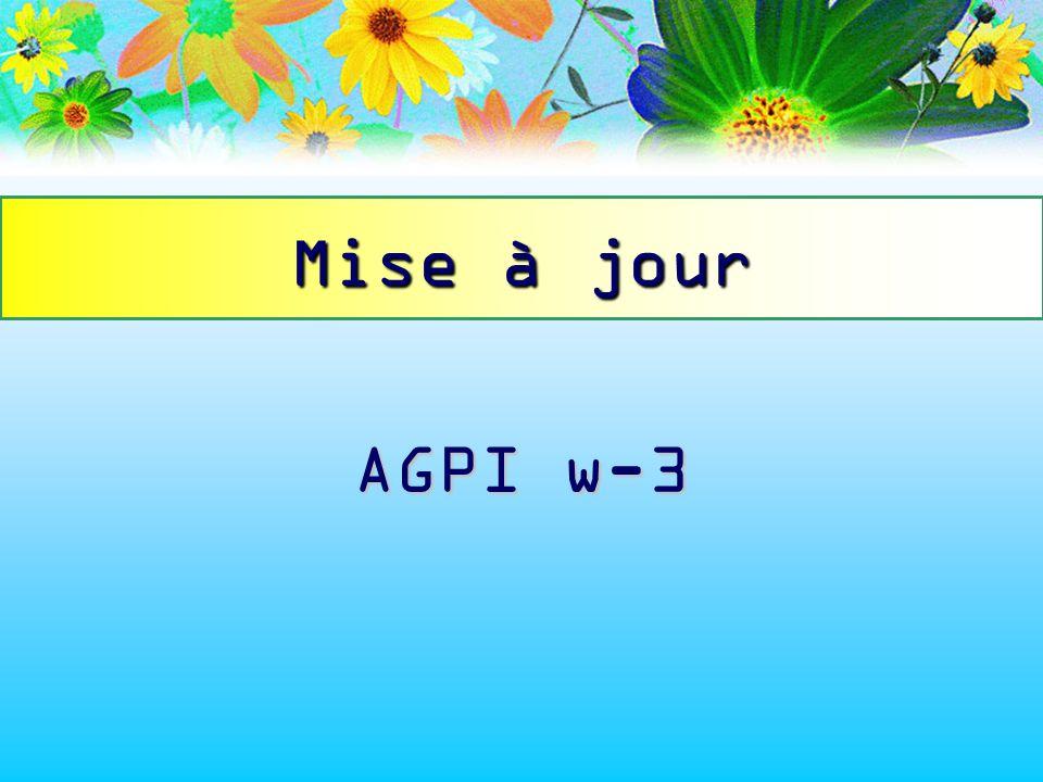 Mise à jour AGPI w-3