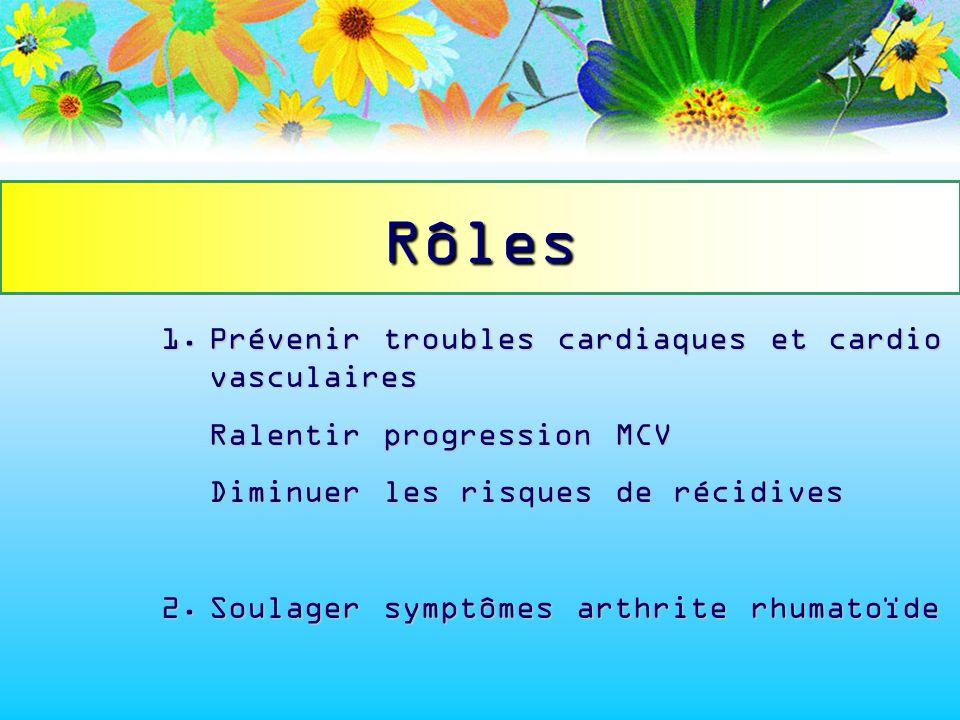 1.Prévenir troubles cardiaques et cardio vasculaires Ralentir progression MCV Diminuer les risques de récidives 2.Soulager symptômes arthrite rhumatoï