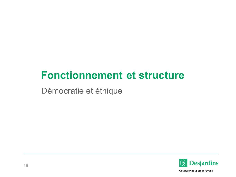 16 Fonctionnement et structure Démocratie et éthique