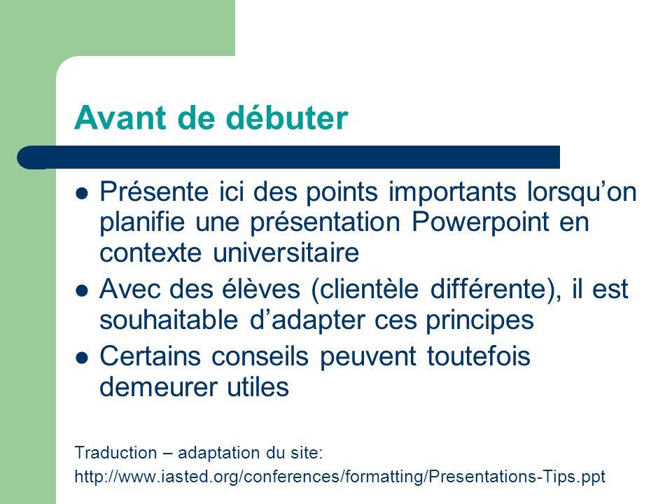 Créer une présentation Powerpoint Comment éviter les pièges les plus courants Vincent Grenon pour le FPT113