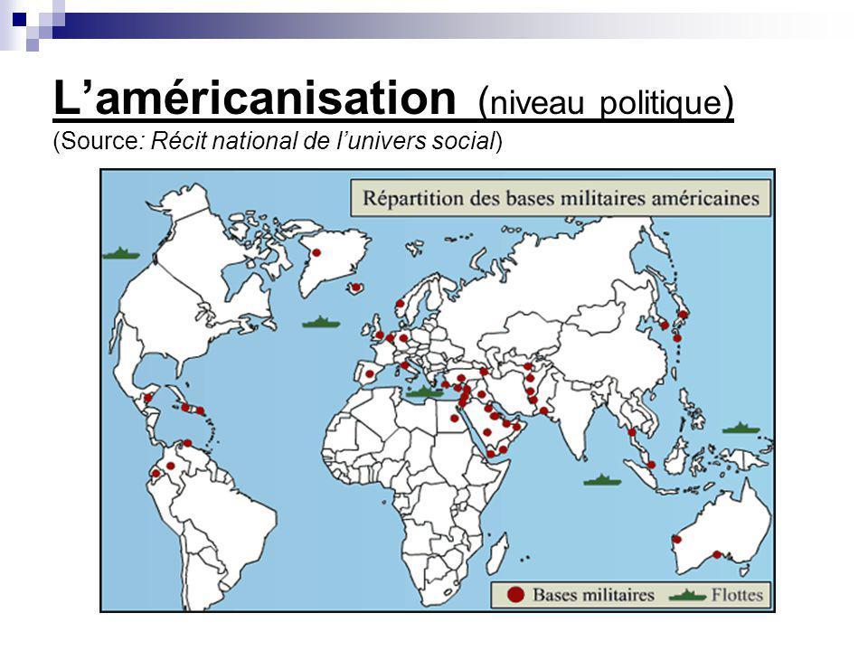 Laméricanisation ( niveau politique ) (Source: Récit national de lunivers social)